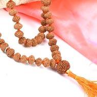 Rare 8 mukhi Ganesh mala - 9mm