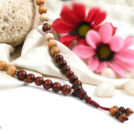 Red and White Sandal Mala - II