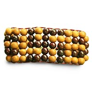 Red and white Sandalwood Multi Beads Bracelet - 8mm