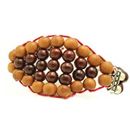 Red and white Sandalwood Multi Beads Bracelet - 8mm - Design II