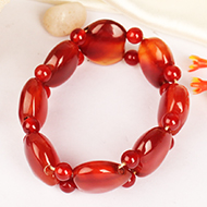Red Carnelian Bracelet - Heart Shape