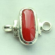Red Coral bracelet in pure silver