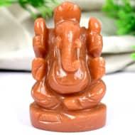 Red Jade Ganesha - 112 gms