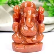 Red Jade Ganesha - 121 gms