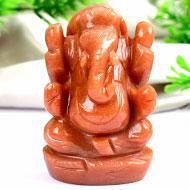Red Jade Ganesha - 167 gms