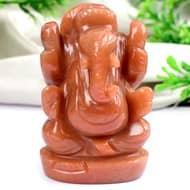 Red Jade Ganesha - 169 gms