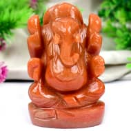 Red Jade Ganesha - 172 gms