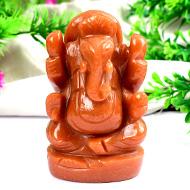 Red Jade Ganesha - 276 gms