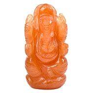 Red Jade Ganesha - 77 gms