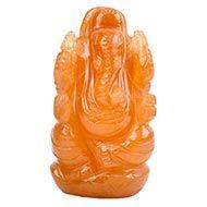 Red Jade Ganesha - 78 gms