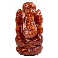Red Jade Ganesha - 79 gms