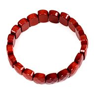 Red Jasper Faceted Bracelet - I