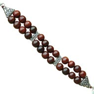 Red Sandalwood Bracelet - 12 mm - Double turn