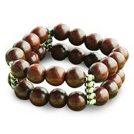 Red Sandalwood Bracelet - 12 mm - Double turn I