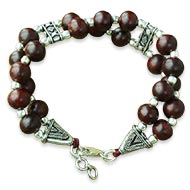Red Sandalwood Bracelet - Double turn - I