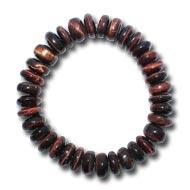 Red Tiger eye Bracelet - Elliptical Beads