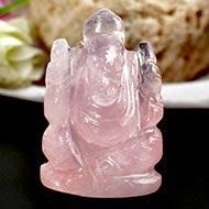 Rose Quartz  Ganesha - 57 gms