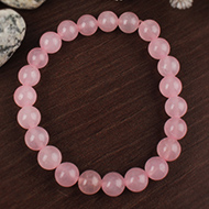 Rose Quartz Round Bracelet - 8mm