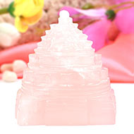 Rose Quartz Shree Yantra - 307 gms
