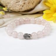 Rose Quartz with Buddha Bracelet