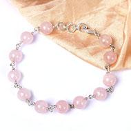 Round Rose Quartz Bracelet - Design III