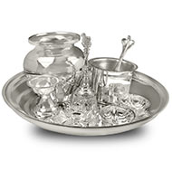 Royal Puja Thali in pure silver - Small