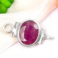 Ruby bracelet in pure silver