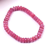 Ruby faceted Bracelet - Button Shape