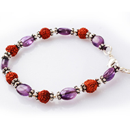 Rudraksha Amethyst Bracelet - II
