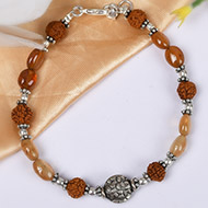 Rudraksha and Gomed Bracelet