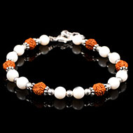 Rudraksha and Mother of Pearl Bracelets
