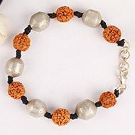 Rudraksha and Parad Bracelet in thread - 10 to 13mm