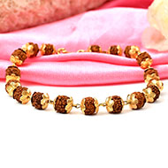 Rudraksha Bracelet in gold - Design IV