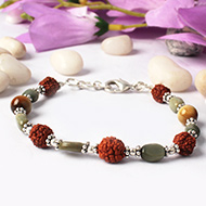 Rudraksha Cats Eye Bracelet