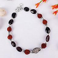 Rudraksha Garnet Bracelet - Design III