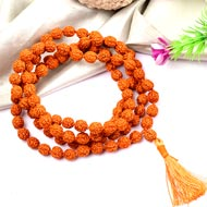 Rudraksha Mala 7mm - Chikna beads