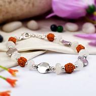 Rudraksha Moonstone Bracelet - I
