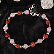 Rudraksha Rose Quartz Bracelet