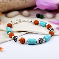 Rudraksha Turquoise Bracelet - I