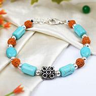 Rudraksha Turquoise Bracelet - II
