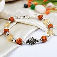 Rudraksha Yellow Topaz Bracelet - I