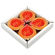 Decorative Earthern lamps - Set of 4 - Design III