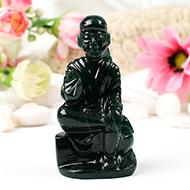 Sai Baba statue in Green Jade-124 gms