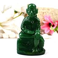 Sai Baba statue in Green Jade-238 gms