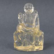 Sai Baba Statue in Lemon Topaz - 270 carats