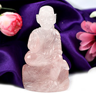 Sai Baba statue in Rose Quartz-167 gms