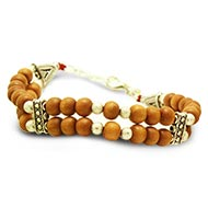 Sandalwood Multi Beads Bracelet - Double turn