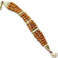 Sandalwood Multi Beads Bracelet - Triple turn