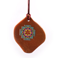 Santangopal Yantra Pendant on Orange Jade