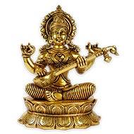 Saraswati in Brass